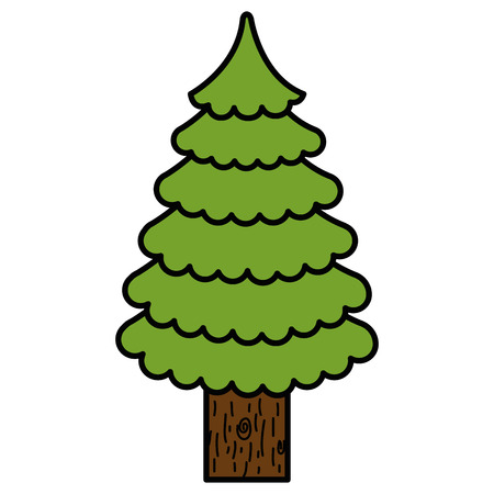 Illustration for christmas tree isolated icon vector illustration design - Royalty Free Image