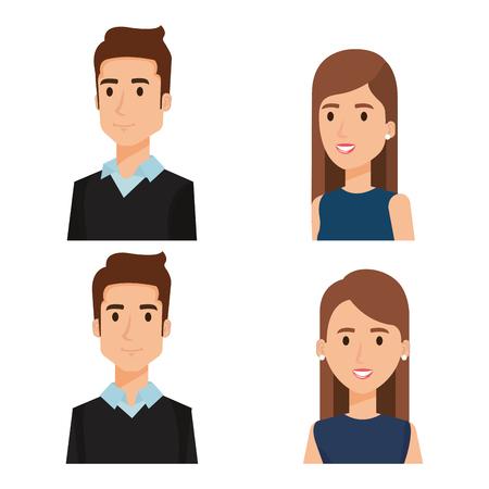 Illustration pour Business people group avatars characters vector illustration design. - image libre de droit