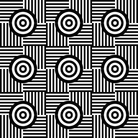 Illustration pour Geometric lines pattern background vector illustration design. - image libre de droit