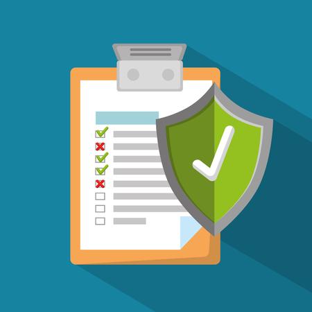 Illustration pour insurance policy services vector illustration graphic design - image libre de droit