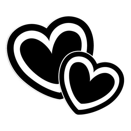 Photo pour two hearts love card vector illustration design - image libre de droit