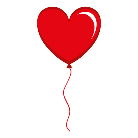 Illustration pour balloon air with heart shape vector illustration design - image libre de droit