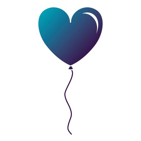 Illustration pour Balloon air with heart shape vector illustration design - image libre de droit