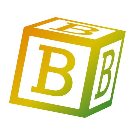 Ilustración de alphabet block toy education icon vector illustration - Imagen libre de derechos