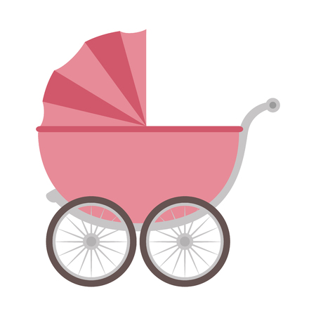 Ilustración de cute baby cart icon vector illustration design - Imagen libre de derechos