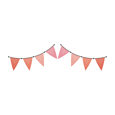 Illustration for party garland decorative icon vector illustration design - Royalty Free Image