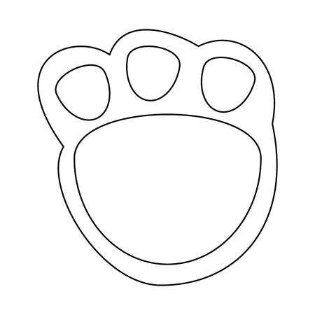 Ilustración de Cute footprint teddy icon. Vector illustration design. - Imagen libre de derechos