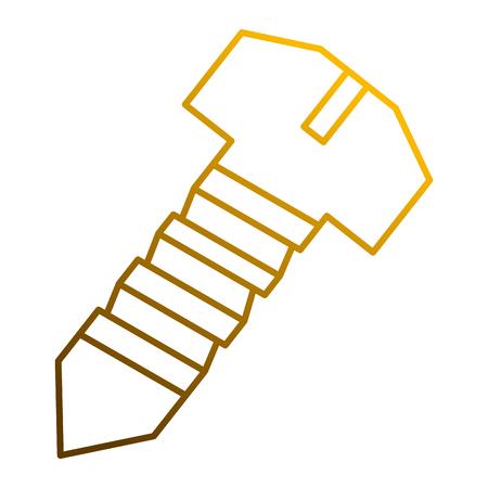 Illustration pour A steel screw tool object for repair icon vector illustration - image libre de droit