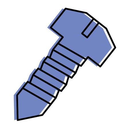 Illustration pour steel screw tool object repair icon vector illustration - image libre de droit