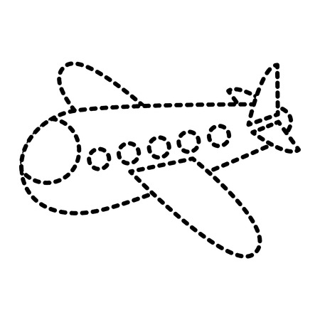 Photo pour airplane fly travel toy icon vector illustration - image libre de droit