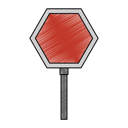 Illustration pour Stop traffic signal icon vector illustration design - image libre de droit