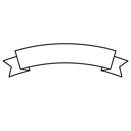 Illustration for ribbon banner decoration ornament icon vector illustration outline - Royalty Free Image