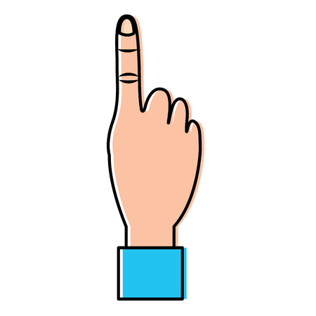 Ilustración de Hand show forefinger finger pointing first. Vector illustration design. - Imagen libre de derechos