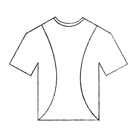 Illustrazione per t shirt uniform sport clothes icon vector illustration - Immagini Royalty Free