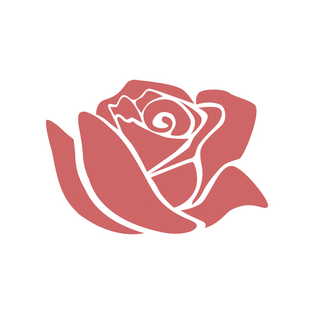 Illustration for Beautiful rose  icon  illustration design - Royalty Free Image