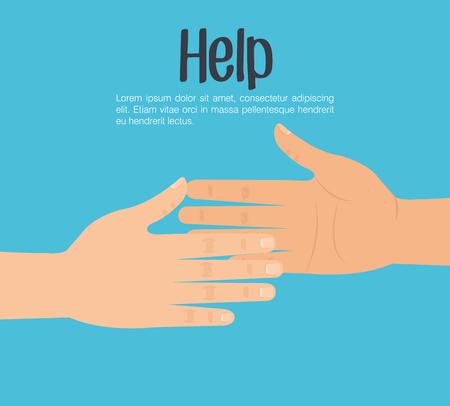 Illustration for handshake human help icon vector illustration design - Royalty Free Image