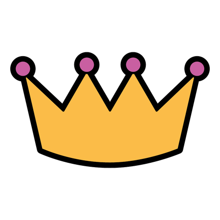 Illustration for Crown luxury royal monarchy icon vector illustration - Royalty Free Image