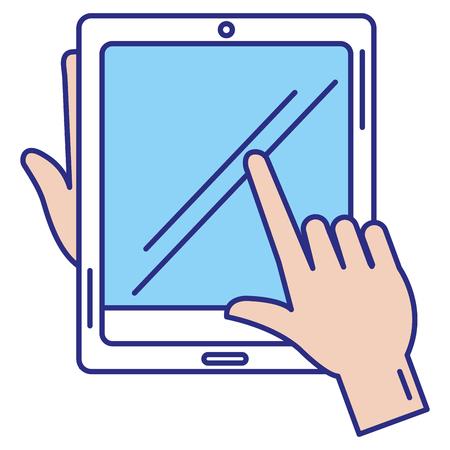 Illustration pour tablet device isolated icon vector illustration design - image libre de droit