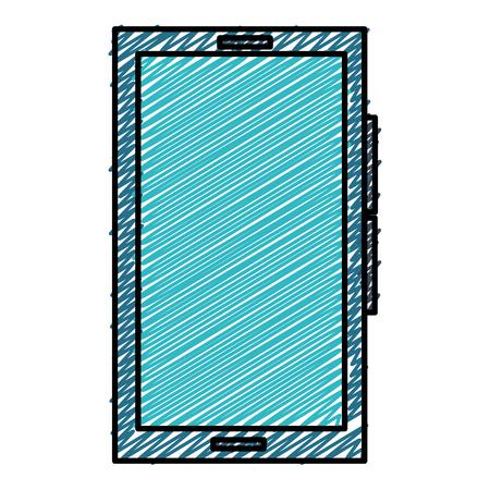 Illustration pour Smartphone device isolated icon vector illustration design - image libre de droit