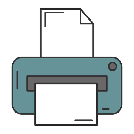 Illustration for Printer hardware isolated icon vector illustration design - Royalty Free Image