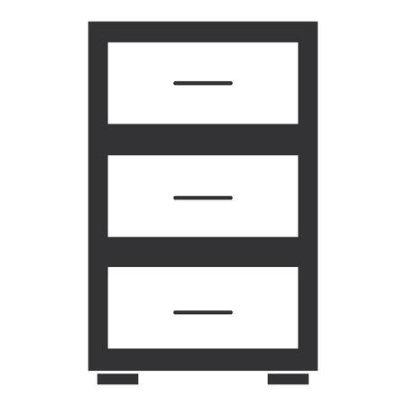 Illustration pour Office drawer isolated icon vector illustration design - image libre de droit