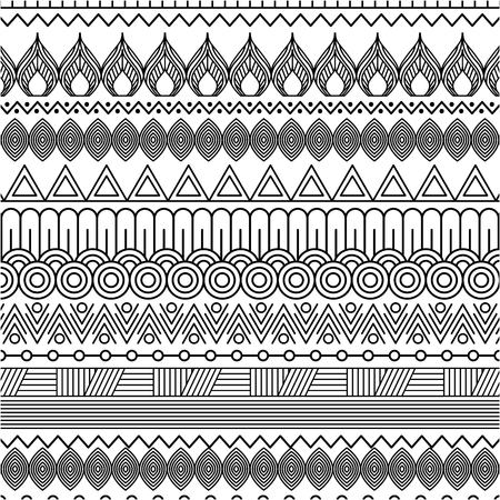 Illustration pour geometric abstract ethnic oriental seamless pattern traditional vector illustration - image libre de droit