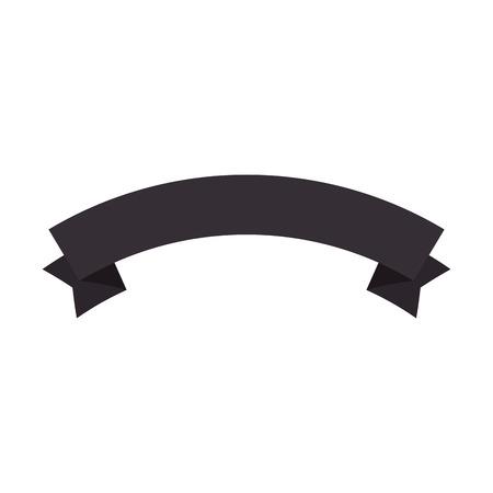 Ilustración de Elegant ribbon frame icon vector illustration design - Imagen libre de derechos