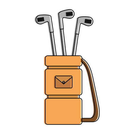 Illustration pour Golf bag with clubs vector illustration design - image libre de droit