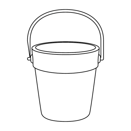 Illustration for Sand bucket icon vector illustration design - Royalty Free Image