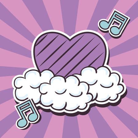 Illustration pour love cute pop art vector illustration design - image libre de droit