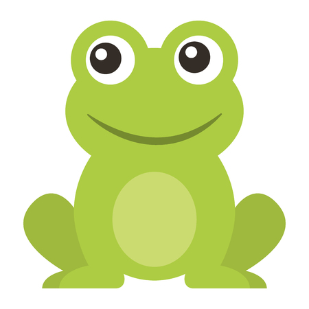 Illustration pour frog cute animal sitting cartoon vector illustration - image libre de droit