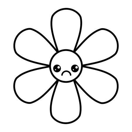 Illustration pour flower cartoon botanical icon vector illustration outline image - image libre de droit