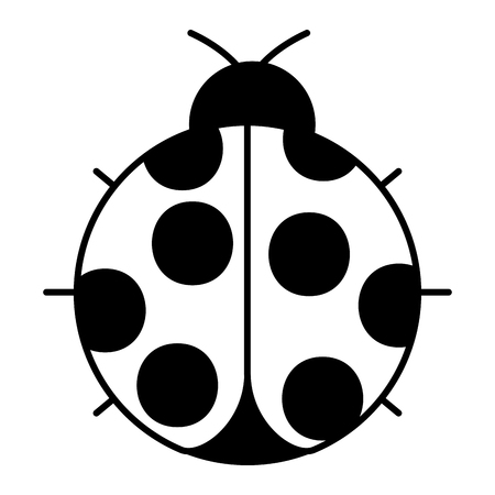 Illustration pour ladybug insect small icon animal vector illustration - image libre de droit