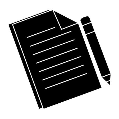 Photo pour document paper isolated icon vector illustration design - image libre de droit