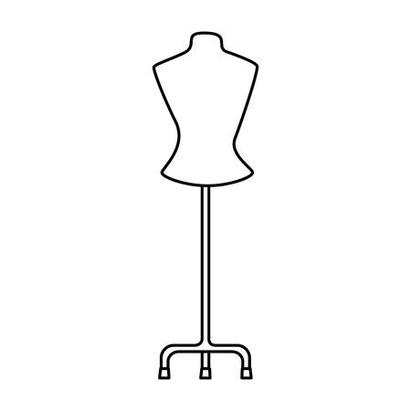 Photo pour mannequin store isolated icon vector illustration design - image libre de droit