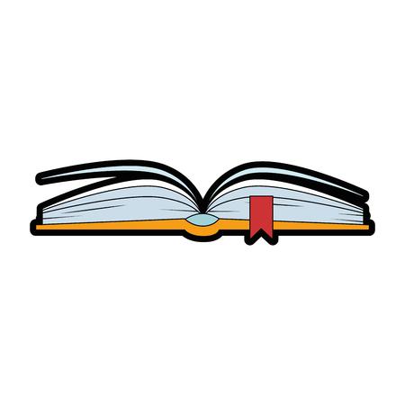 Ilustración de text book isolated icon vector illustration design - Imagen libre de derechos