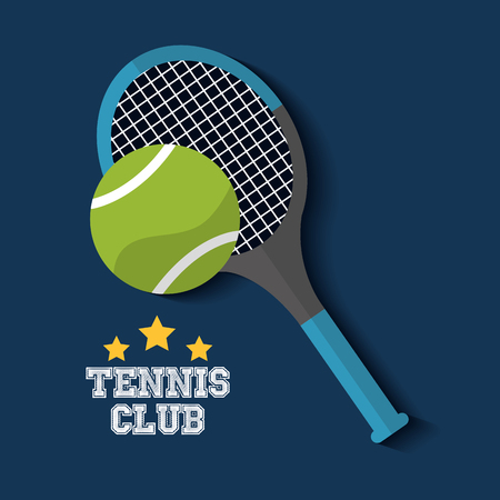 Ilustración de tennis club racket and ball sport vector illustration - Imagen libre de derechos