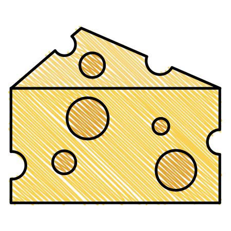 Ilustración de cheese piece isolated icon vector illustration design - Imagen libre de derechos