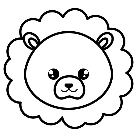 Illustration pour cute and tender lion head character vector illustration design - image libre de droit