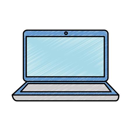Ilustración de Laptop computer isolated icon vector illustration design - Imagen libre de derechos