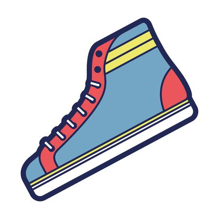 Ilustración de classic sneaker boot vintage sport vector illustration - Imagen libre de derechos