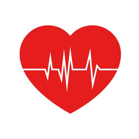 Illustration pour heart cardio isolated icon vector illustration design - image libre de droit
