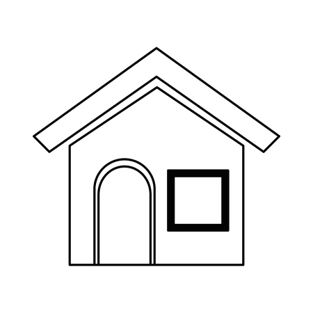 Illustration pour house home isolated icon vector illustration design - image libre de droit