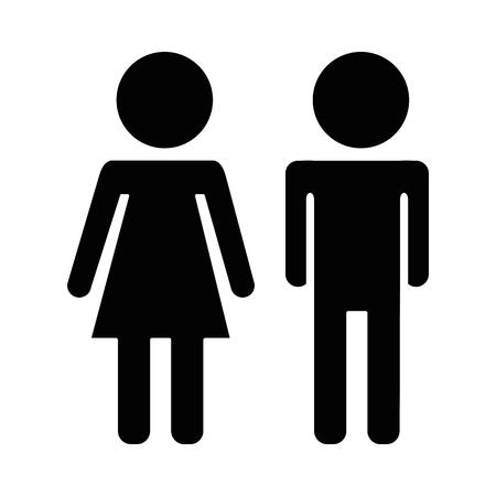 Illustration pour couple silhouette isolated icon vector illustration design - image libre de droit