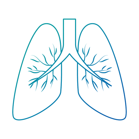 Ilustración de human lungs isolated icon vector illustration design - Imagen libre de derechos