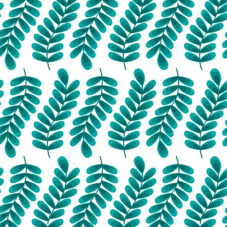 Ilustración de branch leaves foliage frond natural pattern vector illustration - Imagen libre de derechos