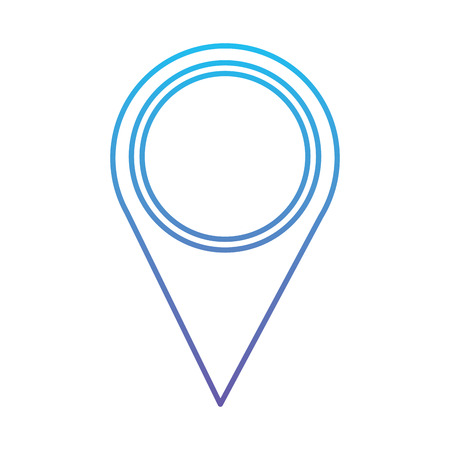 Illustration pour Map pointer location navigation icon vector illustration blue and purple line design - image libre de droit