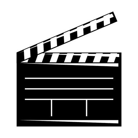 Ilustración de Movie clapper board open cinematography concept vector illustratio - Imagen libre de derechos