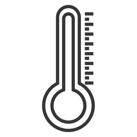 Ilustración de Thermometer measure temperature icon vector illustration design - Imagen libre de derechos