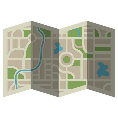 Illustration pour paper map guide icon vector illustration design - image libre de droit